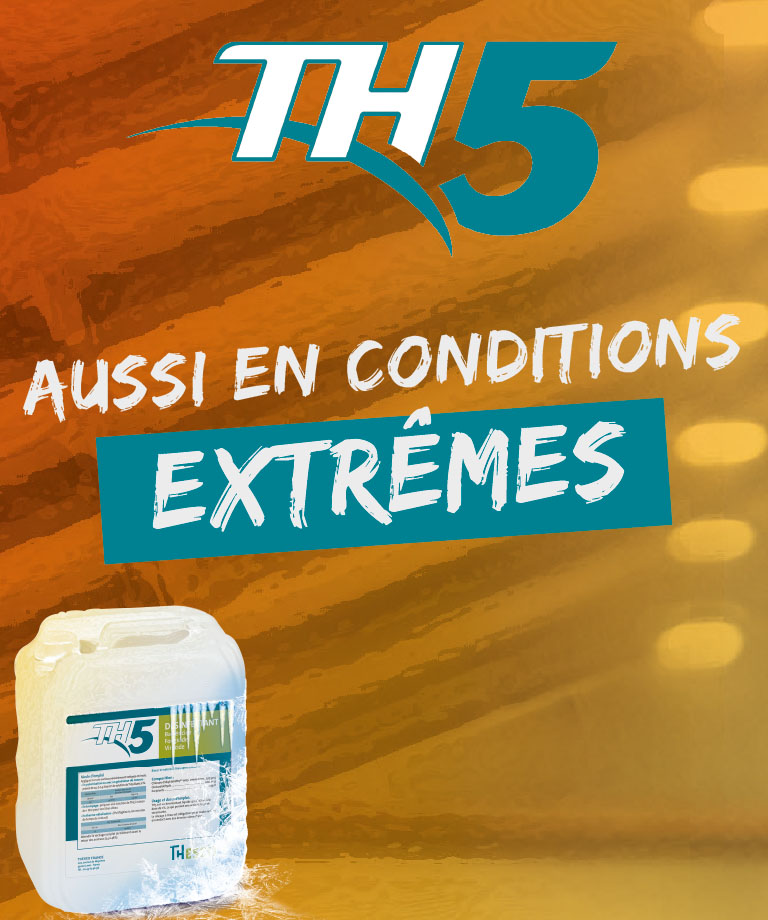 TH5 disinfectant usable at all temperatures