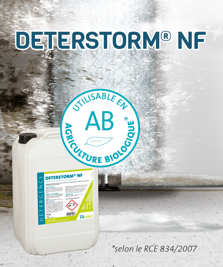 DETERSTORM NF - Utilisable en AB (selon RCE 834/2007) !